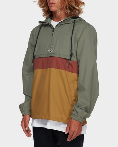 2 Wind Swell Anorak Jacket Green 9591901 Billabong