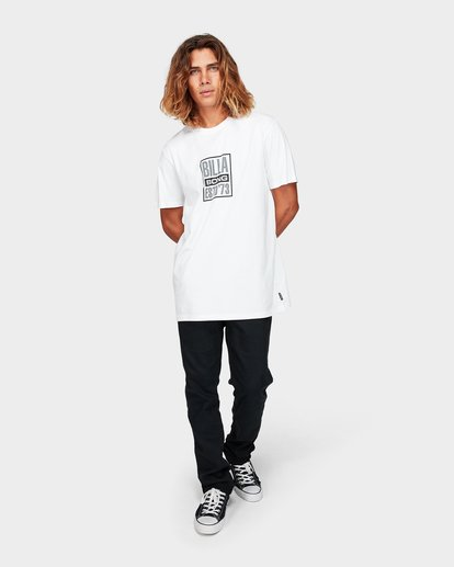 4 Blocked Tee White 9592010 Billabong