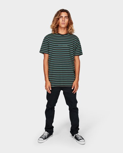 4 Indie Stripe Tee Green 9592016 Billabong