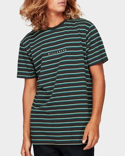 0 Indie Stripe Tee Green 9592016 Billabong