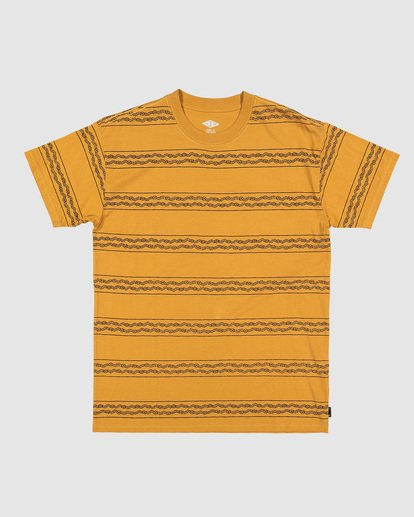 6 TUCKER STRIPE TEE Yellow 9592050M Billabong