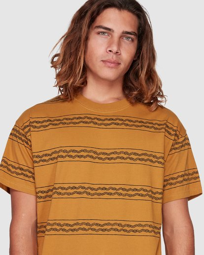 4 TUCKER STRIPE TEE Yellow 9592050M Billabong