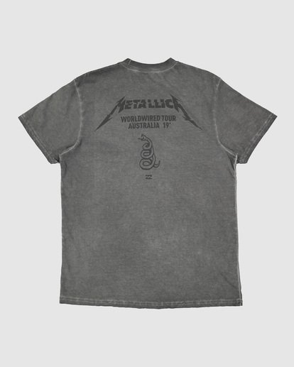 7 Metallica Australia Tour Short Sleeve Tee Black 9592096 Billabong