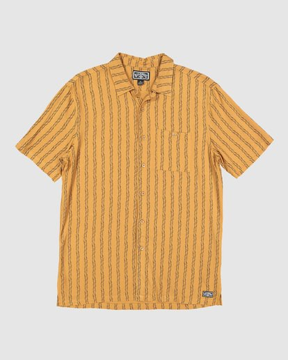 6 Tucker Vert Short Sleeve Shirt Yellow 9592220M Billabong
