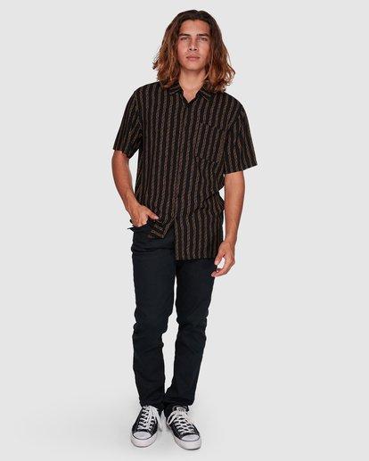 7 Tucker Vert Short Sleeve Shirt Black 9592220M Billabong