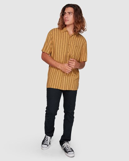 7 Tucker Vert Short Sleeve Shirt Yellow 9592220M Billabong