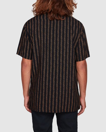 3 Tucker Vert Short Sleeve Shirt Black 9592220M Billabong