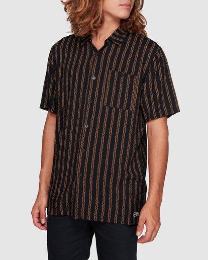 1 Tucker Vert Short Sleeve Shirt Black 9592220M Billabong