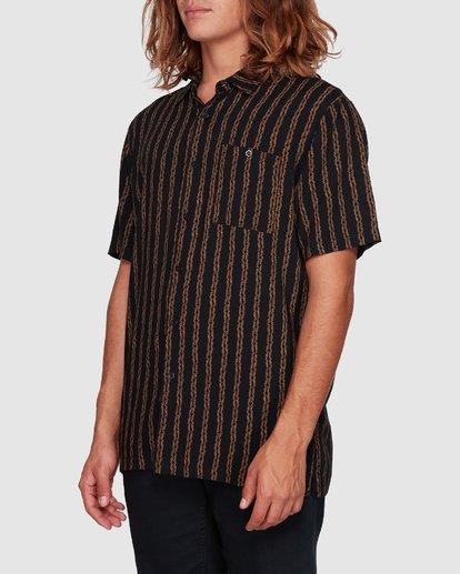 2 Tucker Vert Short Sleeve Shirt Black 9592220M Billabong