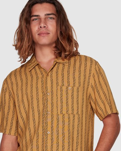 4 Tucker Vert Short Sleeve Shirt Yellow 9592220M Billabong