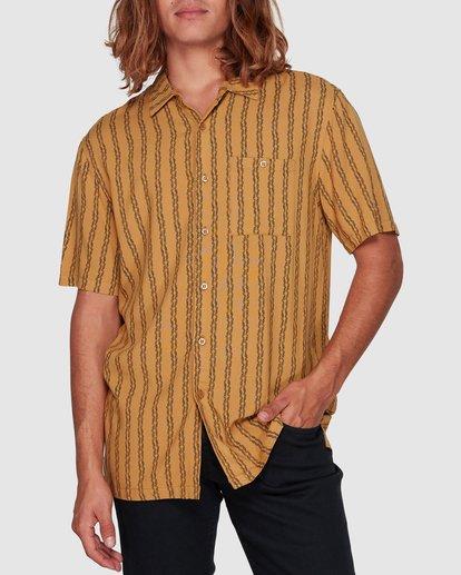 1 Tucker Vert Short Sleeve Shirt Yellow 9592220M Billabong