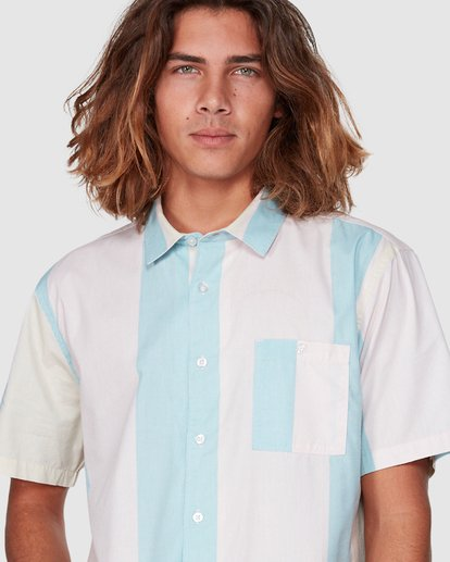 3 Hux Short Sleeve Shirt Pink 9592240M Billabong