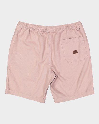 1 Larry Layback Twill Elastic Walkshorts Pink 9592733 Billabong