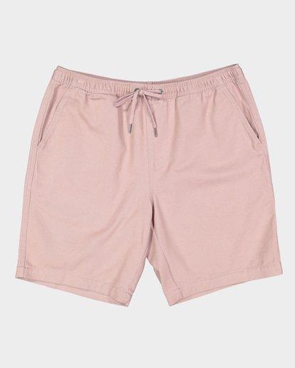 0 Larry Layback Twill Elastic Walkshorts Pink 9592733 Billabong