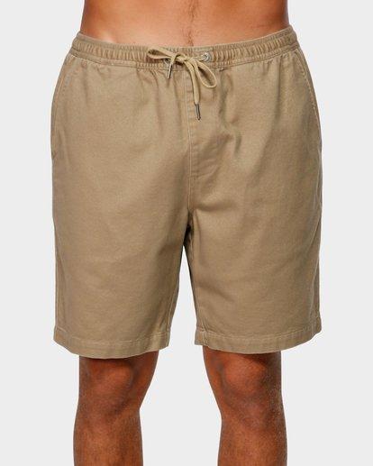 2 Larry Layback Twill Shorts Grey 9592733 Billabong
