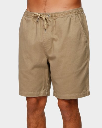 3 Larry Layback Twill Shorts Grey 9592733 Billabong