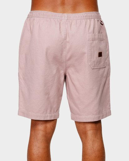 4 Larry Layback Twill Elastic Walkshorts Pink 9592733 Billabong