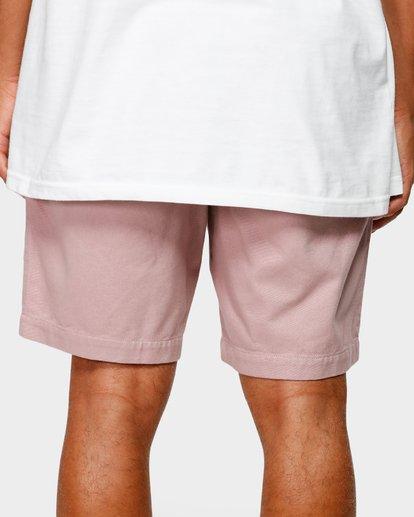 7 Larry Layback Twill Elastic Walkshorts Pink 9592733 Billabong