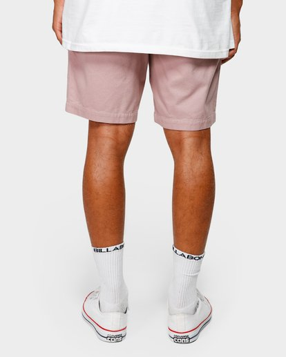 10 Larry Layback Twill Elastic Walkshorts Pink 9592733 Billabong