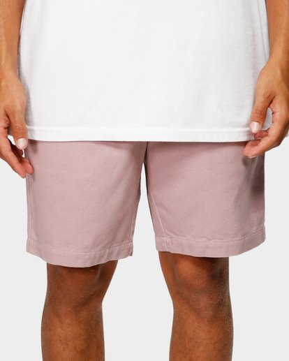 5 Larry Layback Twill Elastic Walkshorts Pink 9592733 Billabong