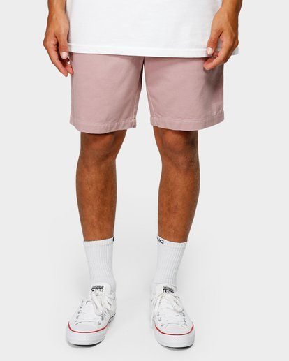 8 Larry Layback Twill Elastic Walkshorts Pink 9592733 Billabong