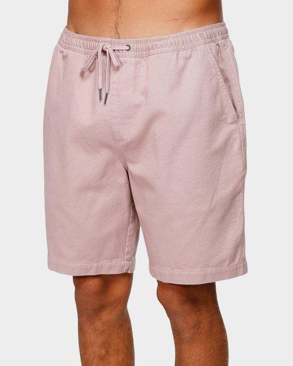 3 Larry Layback Twill Elastic Walkshorts Pink 9592733 Billabong