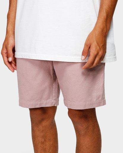 6 Larry Layback Twill Elastic Walkshorts Pink 9592733 Billabong