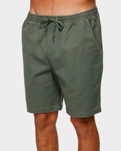 3 Larry Layback Twill Shorts Green 9592733 Billabong