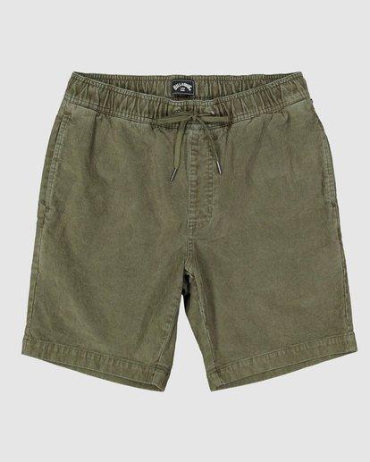 0 Larry Layback Cord Shorts Green 9592736 Billabong