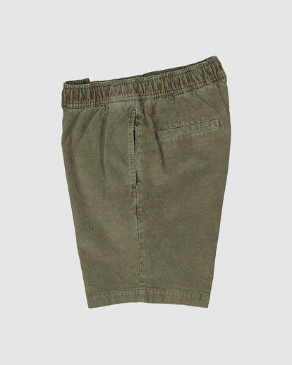 2 Larry Layback Cord Shorts Green 9592736 Billabong