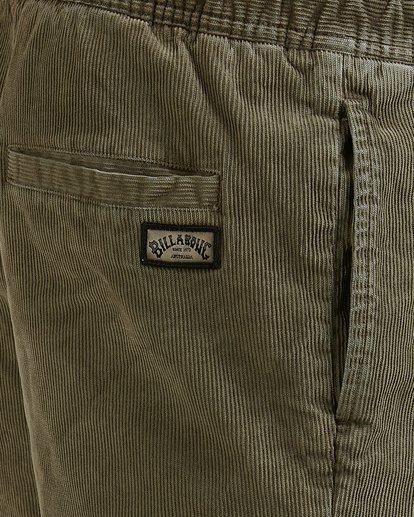 6 Larry Layback Cord Shorts Green 9592736 Billabong