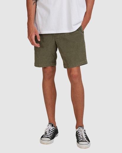 3 Larry Layback Cord Shorts Green 9592736 Billabong
