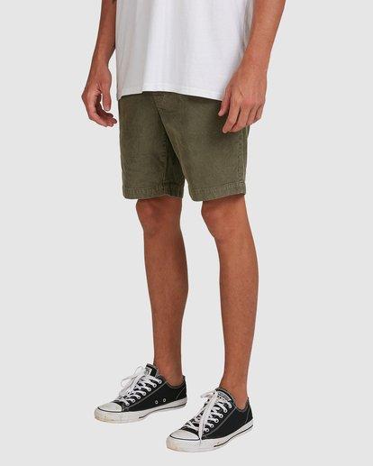 4 Larry Layback Cord Shorts Green 9592736 Billabong