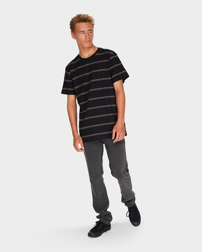 3 DIE CUT STRIPE TEE Black 9595001 Billabong