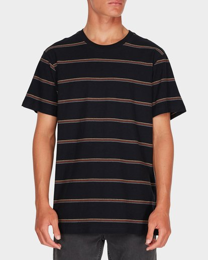 0 DIE CUT STRIPE TEE Black 9595001 Billabong