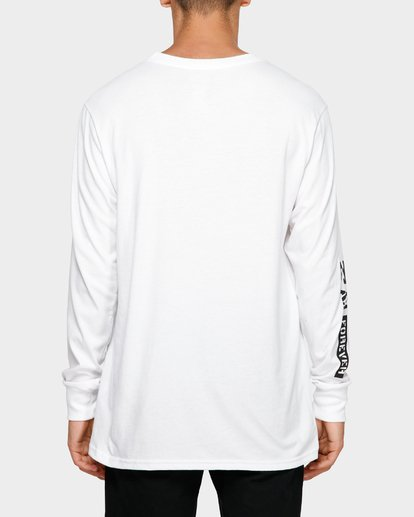 3 Andy Iron Stencil Long Sleeve Tee White 9595187 Billabong