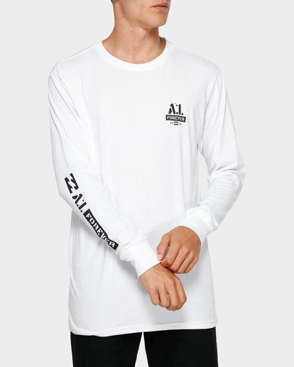 1 Andy Iron Stencil Long Sleeve Tee White 9595187 Billabong