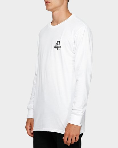 2 Andy Iron Stencil Long Sleeve Tee White 9595187 Billabong