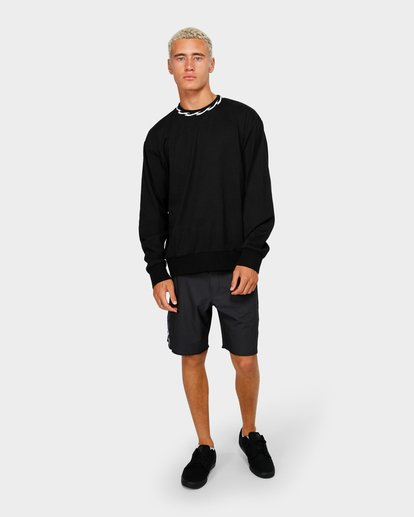 3 VIBES SOLID LONG SLEEVE CREW Black 9595194M Billabong