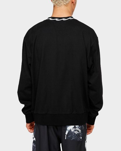 2 VIBES SOLID LONG SLEEVE CREW Black 9595194M Billabong