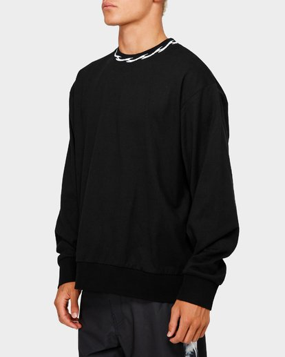 1 VIBES SOLID LONG SLEEVE CREW Black 9595194M Billabong