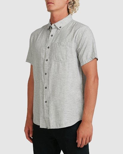 2 All Day Short Sleeve Shirt Grey 9595201 Billabong