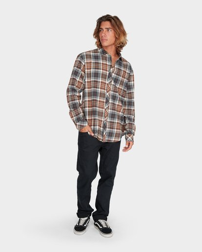 3 Coastline Long Sleeve Shirt Green 9595208 Billabong