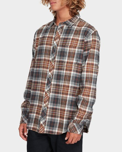 1 Coastline Long Sleeve Shirt Green 9595208 Billabong