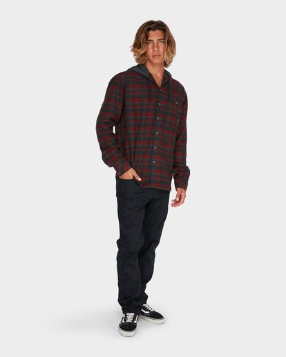 3 BAJA FLANNEL SHIRT Red 9595213 Billabong
