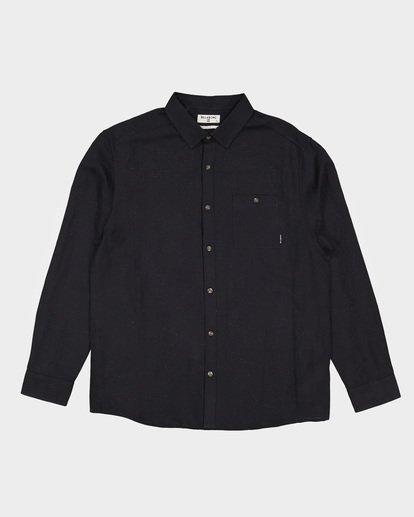 2 LINEN LONG SLEEVE SHIRT Black 9595217 Billabong