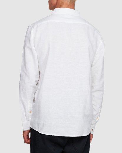3 LINEN LONG SLEEVE SHIRT White 9595217 Billabong
