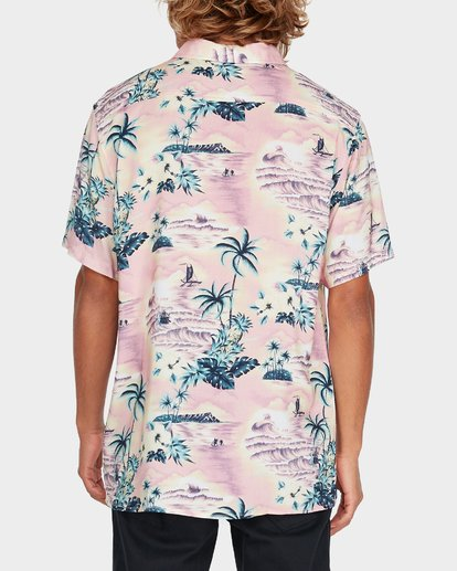 2 Sundays Party Short Sleeve Shirt Pink 9595218 Billabong