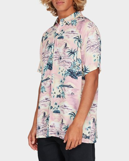 1 Sundays Party Short Sleeve Shirt Pink 9595218 Billabong