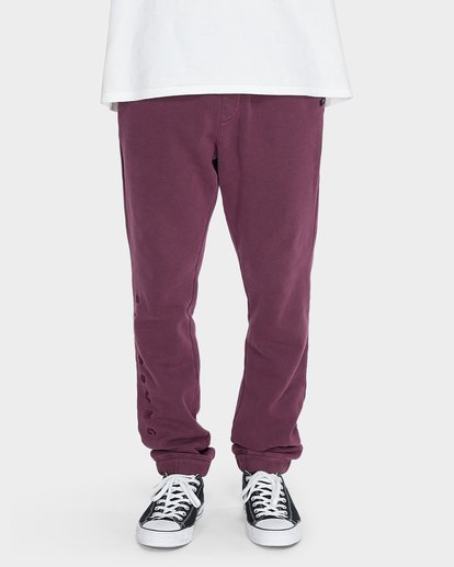 3 WORDSMITH FLEECE TRACKPANT Red 9595307 Billabong
